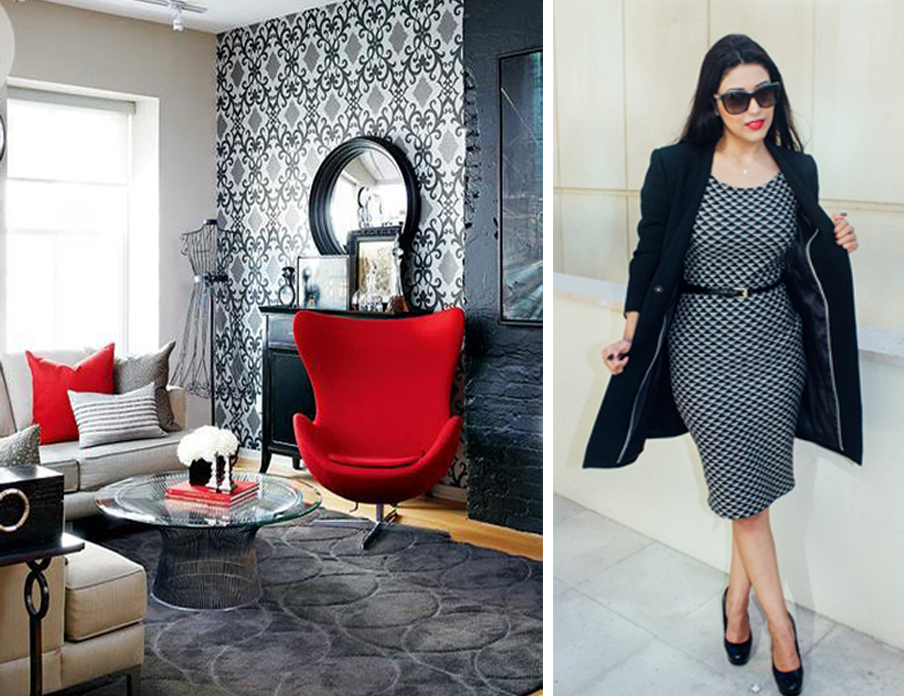 Design Inspiration With Black White And Red Color In Fashion World X Interior World Design World